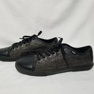 Vans Hadley Lo (Snake Plaid) Black Skate Shoe